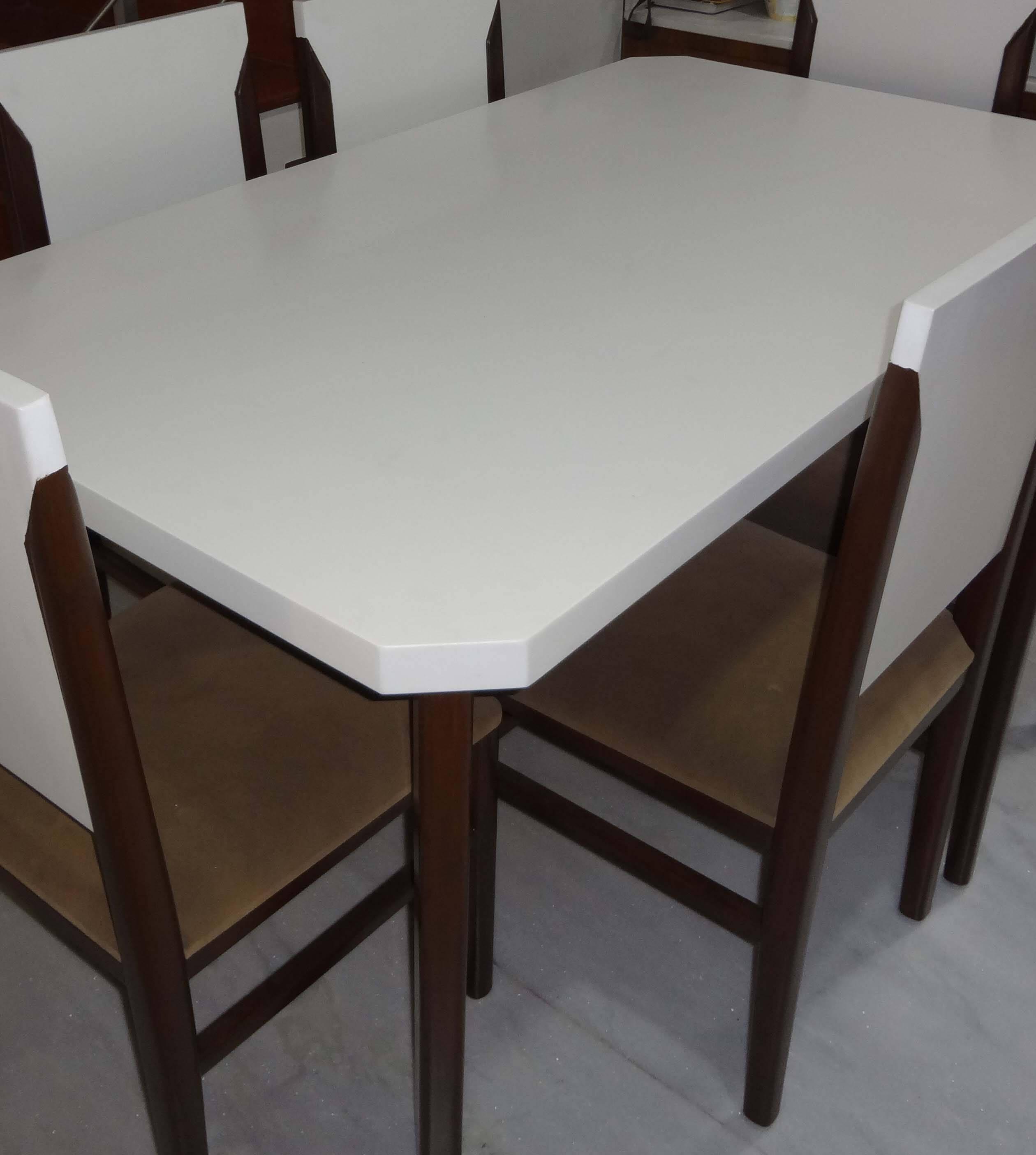Dinning Table In Acrylic Uv Solid Surface Borisstone