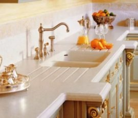 мебель для кухни из искусственного камня